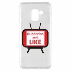 Чохол для Samsung A8 2018 Subscribe and like youtube