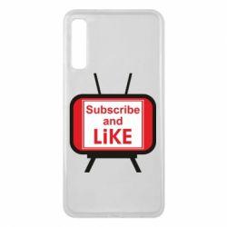 Чохол для Samsung A7 2018 Subscribe and like youtube