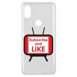 Чохол для Xiaomi Mi Mix 3 Subscribe and like youtube