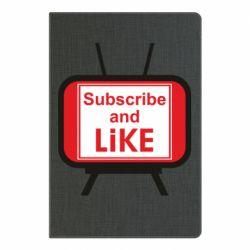 Блокнот А5 Subscribe and like youtube