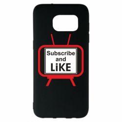 Чохол для Samsung S7 EDGE Subscribe and like youtube