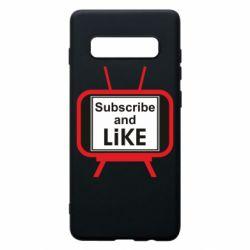 Чохол для Samsung S10+ Subscribe and like youtube