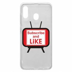 Чохол для Samsung A20 Subscribe and like youtube