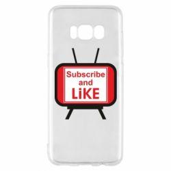 Чохол для Samsung S8 Subscribe and like youtube