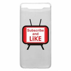 Чохол для Samsung A80 Subscribe and like youtube