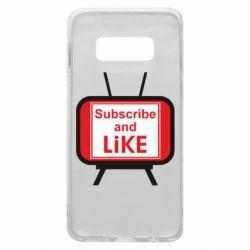 Чохол для Samsung S10e Subscribe and like youtube
