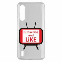 Чохол для Xiaomi Mi9 Lite Subscribe and like youtube