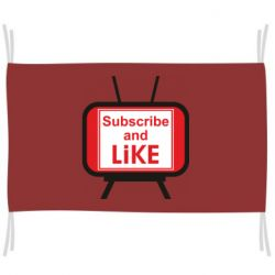 Прапор Subscribe and like youtube