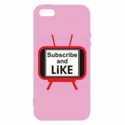 Чохол для iphone 5/5S/SE Subscribe and like youtube