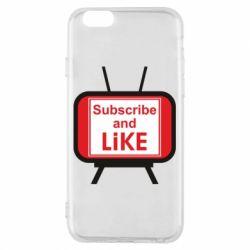 Чохол для iPhone 6/6S Subscribe and like youtube