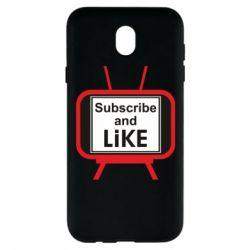 Чохол для Samsung J7 2017 Subscribe and like youtube