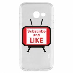 Чохол для Samsung A3 2017 Subscribe and like youtube