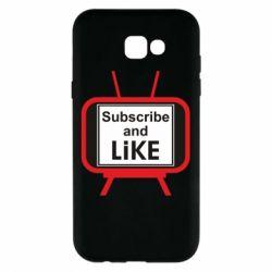 Чохол для Samsung A7 2017 Subscribe and like youtube
