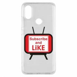 Чохол для Xiaomi Mi A2 Subscribe and like youtube