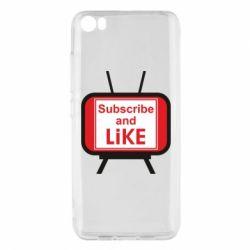 Чохол для Xiaomi Mi5/Mi5 Pro Subscribe and like youtube