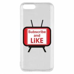 Чохол для Xiaomi Mi6 Subscribe and like youtube