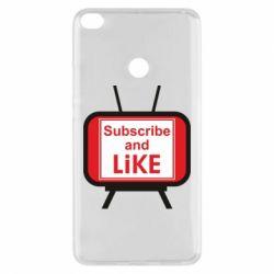 Чохол для Xiaomi Mi Max 2 Subscribe and like youtube
