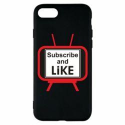 Чохол для iPhone 8 Subscribe and like youtube