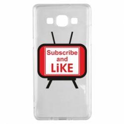 Чохол для Samsung A5 2015 Subscribe and like youtube