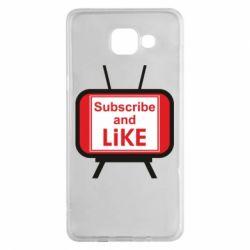 Чохол для Samsung A5 2016 Subscribe and like youtube