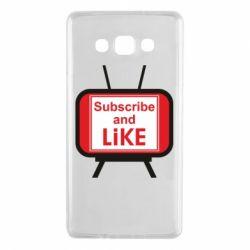 Чохол для Samsung A7 2015 Subscribe and like youtube
