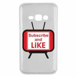 Чохол для Samsung J1 2016 Subscribe and like youtube