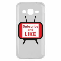 Чохол для Samsung J2 2015 Subscribe and like youtube