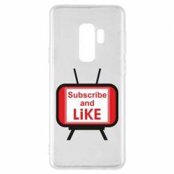 Чохол для Samsung S9+ Subscribe and like youtube