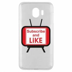 Чохол для Samsung J4 Subscribe and like youtube