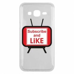 Чохол для Samsung J5 2015 Subscribe and like youtube