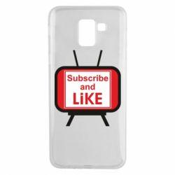 Чохол для Samsung J6 Subscribe and like youtube