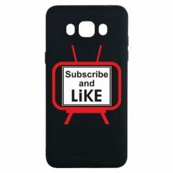 Чохол для Samsung J7 2016 Subscribe and like youtube