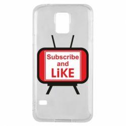 Чохол для Samsung S5 Subscribe and like youtube
