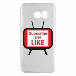 Чохол для Samsung S6 EDGE Subscribe and like youtube