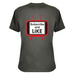 Камуфляжна футболка Subscribe and like youtube
