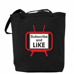 Сумка Subscribe and like youtube