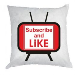 Подушка Subscribe and like youtube