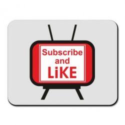 Килимок для миші Subscribe and like youtube