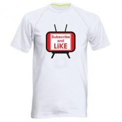 Чоловіча спортивна футболка Subscribe and like youtube