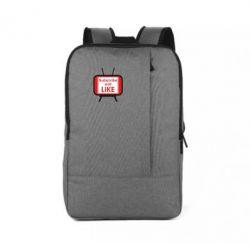 Рюкзак для ноутбука Subscribe and like youtube