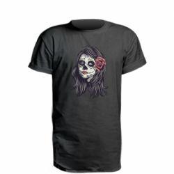 Подовжена футболка Sugar girl with a rose