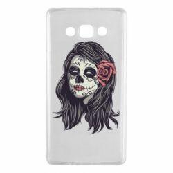 Чохол для Samsung A7 2015 Sugar girl with a rose