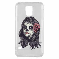Чохол для Samsung S5 Sugar girl with a rose