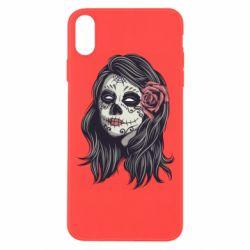 Чохол для iPhone Xs Max Sugar girl with a rose