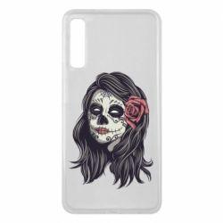 Чохол для Samsung A7 2018 Sugar girl with a rose