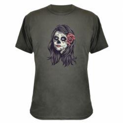 Камуфляжна футболка Sugar girl with a rose