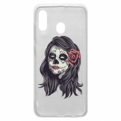 Чохол для Samsung A20 Sugar girl with a rose