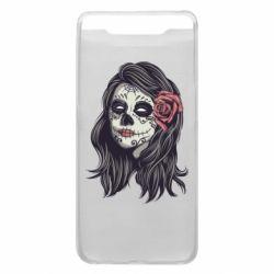 Чохол для Samsung A80 Sugar girl with a rose