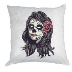 Подушка Sugar girl with a rose