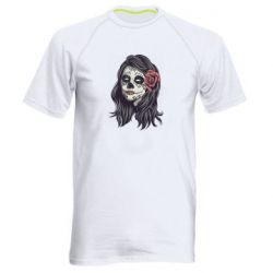 Чоловіча спортивна футболка Sugar girl with a rose